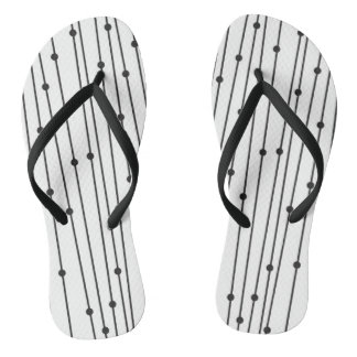 Simple black & white flip-flops for everyday wear thongs