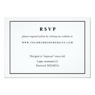 Simple Black & White Online Response Website Card 9 Cm X 13 Cm Invitation Card