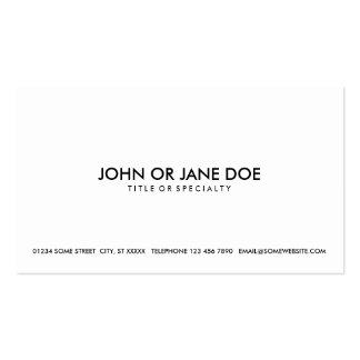 simple black & white pack of standard business cards