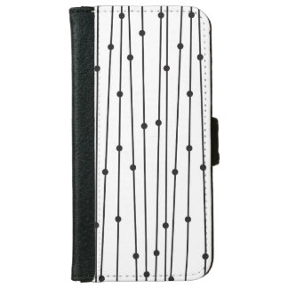 Simple black & white pattern iPhone 6/6s Wallet