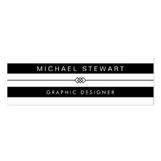 Simple Black White Stripes - Modern and Unique Pack Of Skinny Business Cards