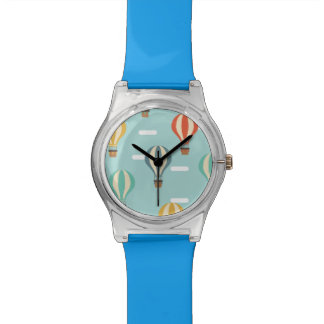 Simple blue air balloons watch
