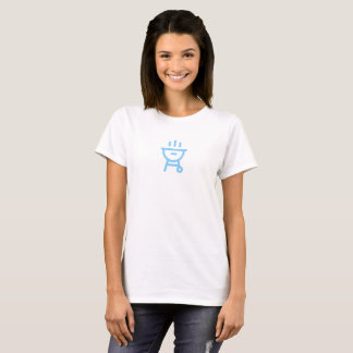 Simple Blue Barbeque Icon Shirt