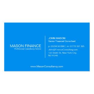 Simple Blue Customizable Business Card Template