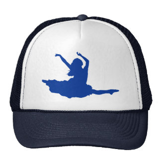 Simple Blue Dancer Silhouette Illustration Trucker Hat