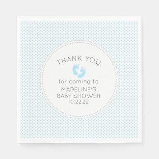 Simple blue dot boy baby shower decor disposable serviettes