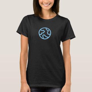 Simple Blue Earth Icon Shirt