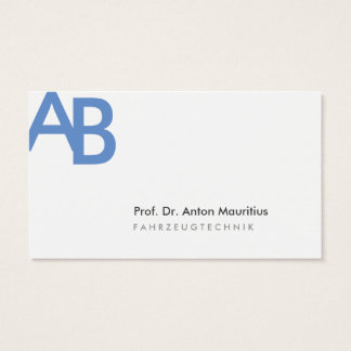 Simple Blue Grey Business Card