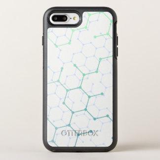 Simple Blue Hexagon Pattern   Phone Case