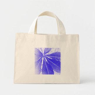 Simple Blue Leaf Mini Tote Bag