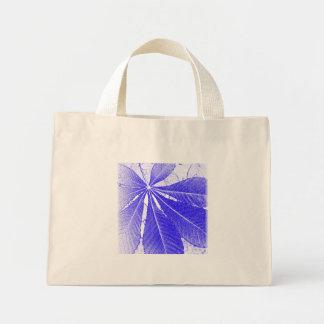 Simple Blue Leaf Tote Bag