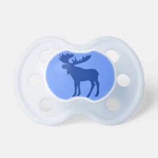 Simple blue moose baby pacifier