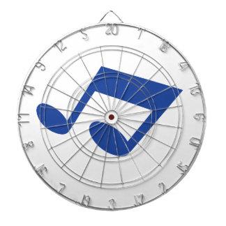 Simple blue note dart board