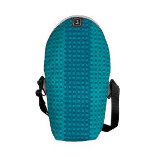 Simple Blue on Blue Stripes Rickshaw Messenger Bag