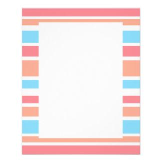 Simple Blue Orange Stripes Flyer Design