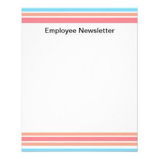 Simple Blue Orange Stripes Personalized Flyer