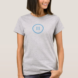 Simple Blue Pause Icon Shirt