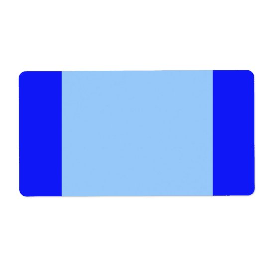 simple blue shipping label