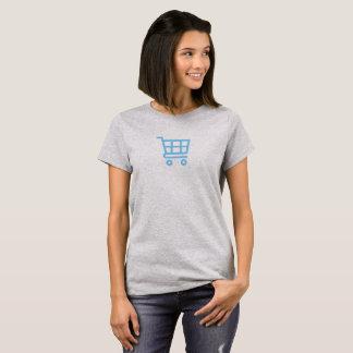 Simple Blue Shopping Cart Icon Shirt