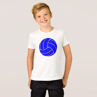Simple Blue Volleyball Kids T-shirt