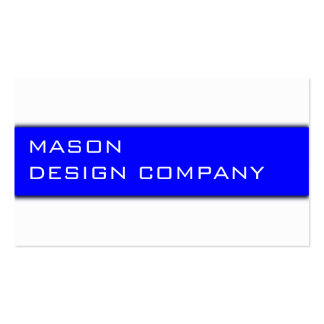 Simple Blue & White Corporate Stylish Card Double-Sided Standard Business Cards (Pack Of 100)