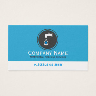 Simple Blue White & Gray Plumbing Services