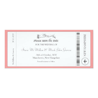 Simple Boarding Pass Save the Date Invitation