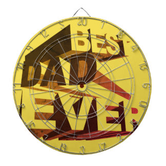 Simple Bold 3D Best Dad Ever Dartboard With Darts