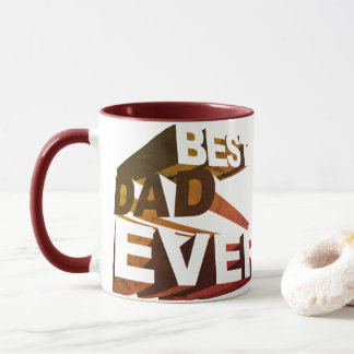 Simple Bold 3D Best Dad Ever Mug