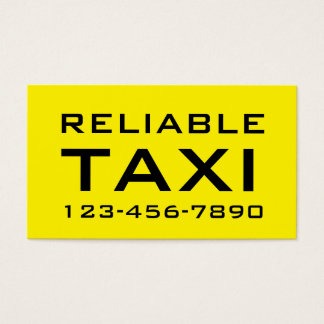Simple Bold Taxi Business Cards