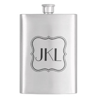 Simple Box with Monogram Hip Flask