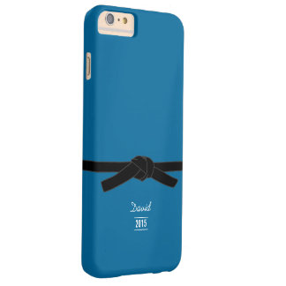 Simple Brazilian jiu-jitsu Black Belt Blue Barely There iPhone 6 Plus Case