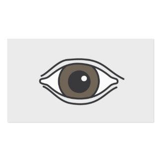 Simple Brown Eye Optometrist Business Card