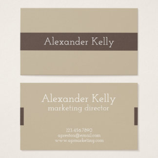 Simple Brown Modern Business Cards
