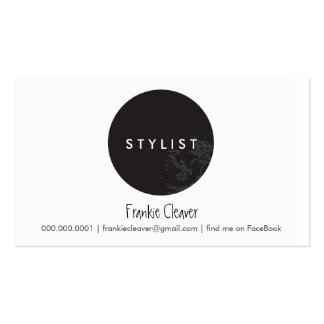 SIMPLE BUSINESS CARD :: bold spot black
