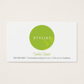 SIMPLE BUSINESS CARD :: bold spot lime