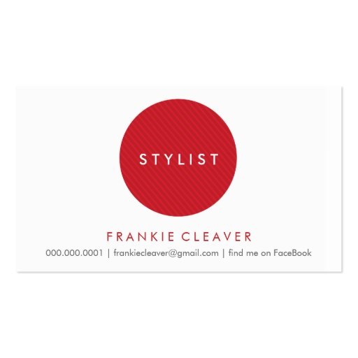 SIMPLE BUSINESS CARD :: bold spot red