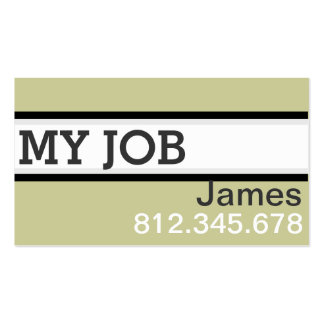 Simple Business Cards for Men