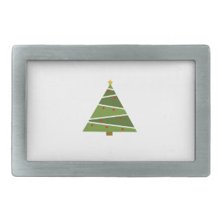 Simple But Beautiful Christmas Tree Belt Buckle
