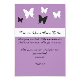 Simple Butterfly Purple Pink Wedding Invite