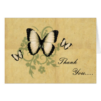 Simple Butterfly's Thank You Note Card