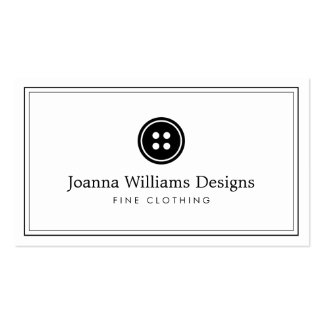 Simple Button Logo Seamstress, Tailor Pack Of Standard Business Cards