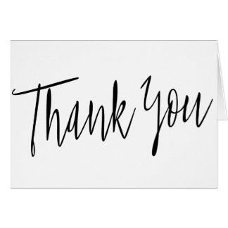"""Simple Calligraphy """"Thank you"""" Card"""