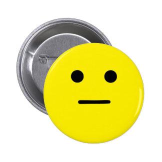 Simple Calm Yellow Face Pinback Button