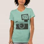 Simple Camera Icon Green Shirt
