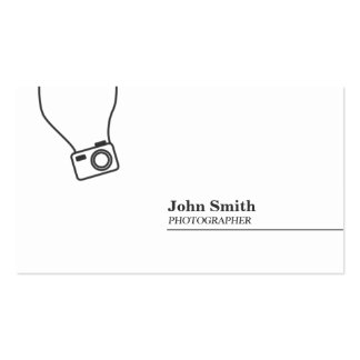 Simple Camera Minimalism Photography Business Card