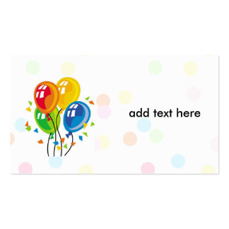 simple card with balloons pack of standard business cards