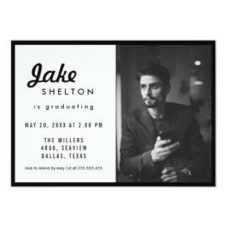 Simple Casual Graduation Photo Card