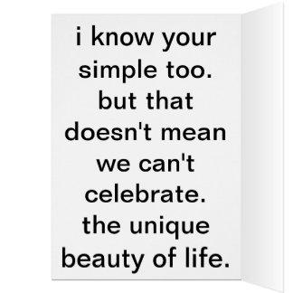 simple celebrations. card