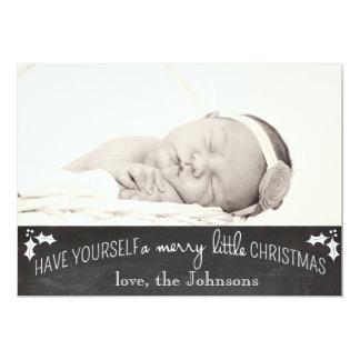 Simple Chalkboard Christmas Card 13 Cm X 18 Cm Invitation Card